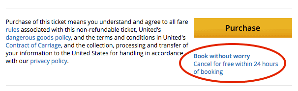 This screenshot is from the final payment page of my award booking.